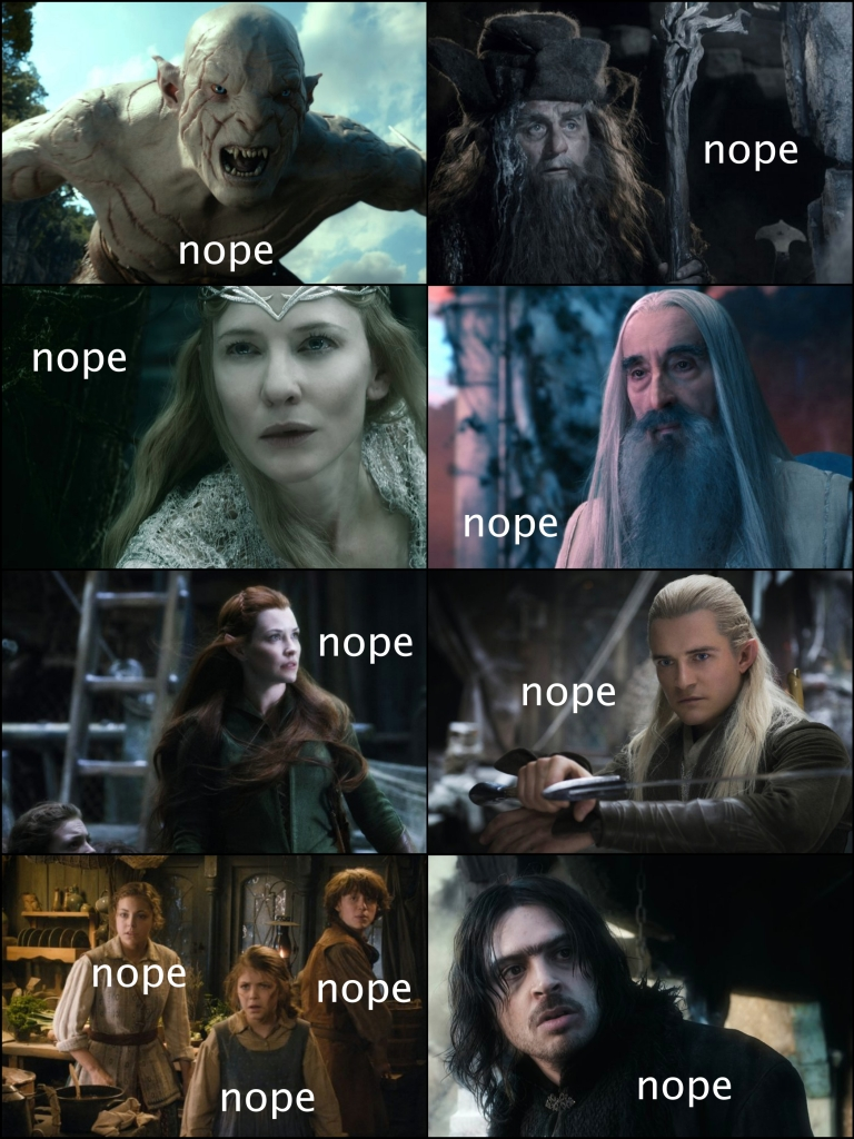 the hobbit galadriel lord of the rings legolas sarumon tauriel