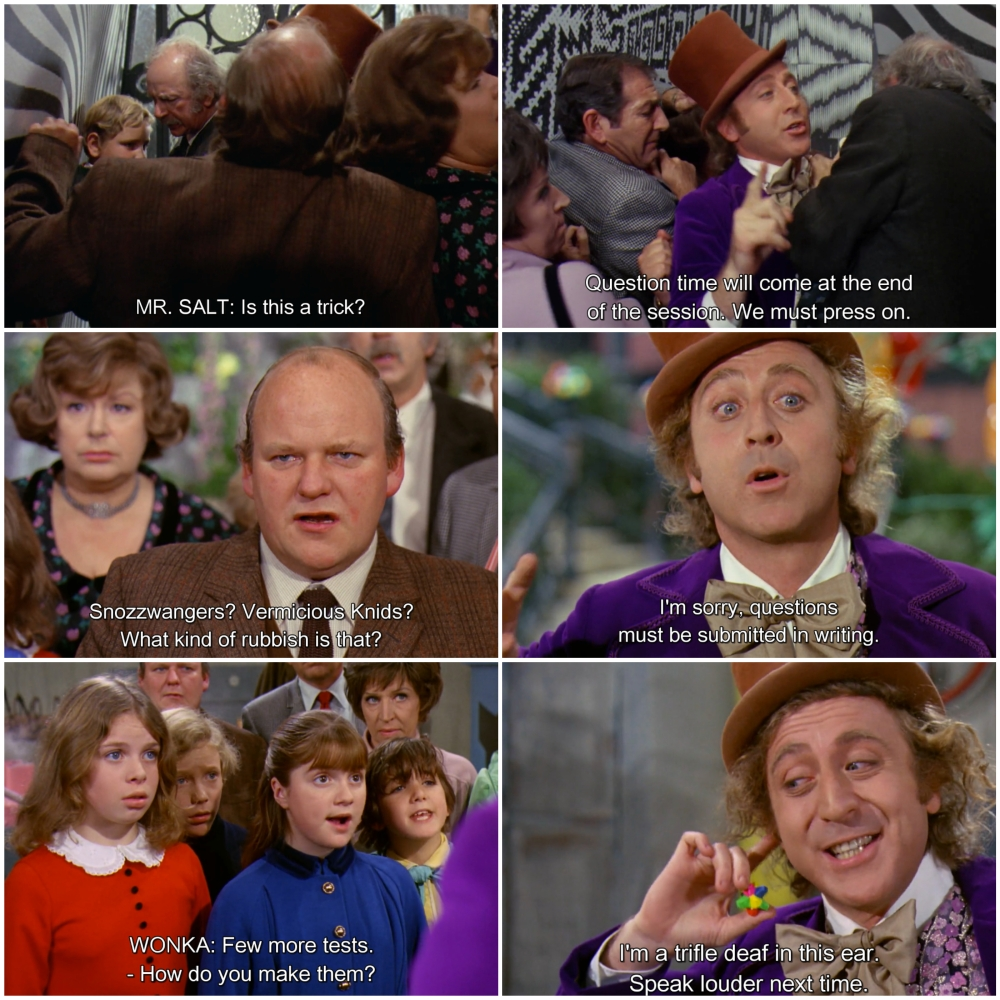 questions willy wonka and the chocolate factory questions