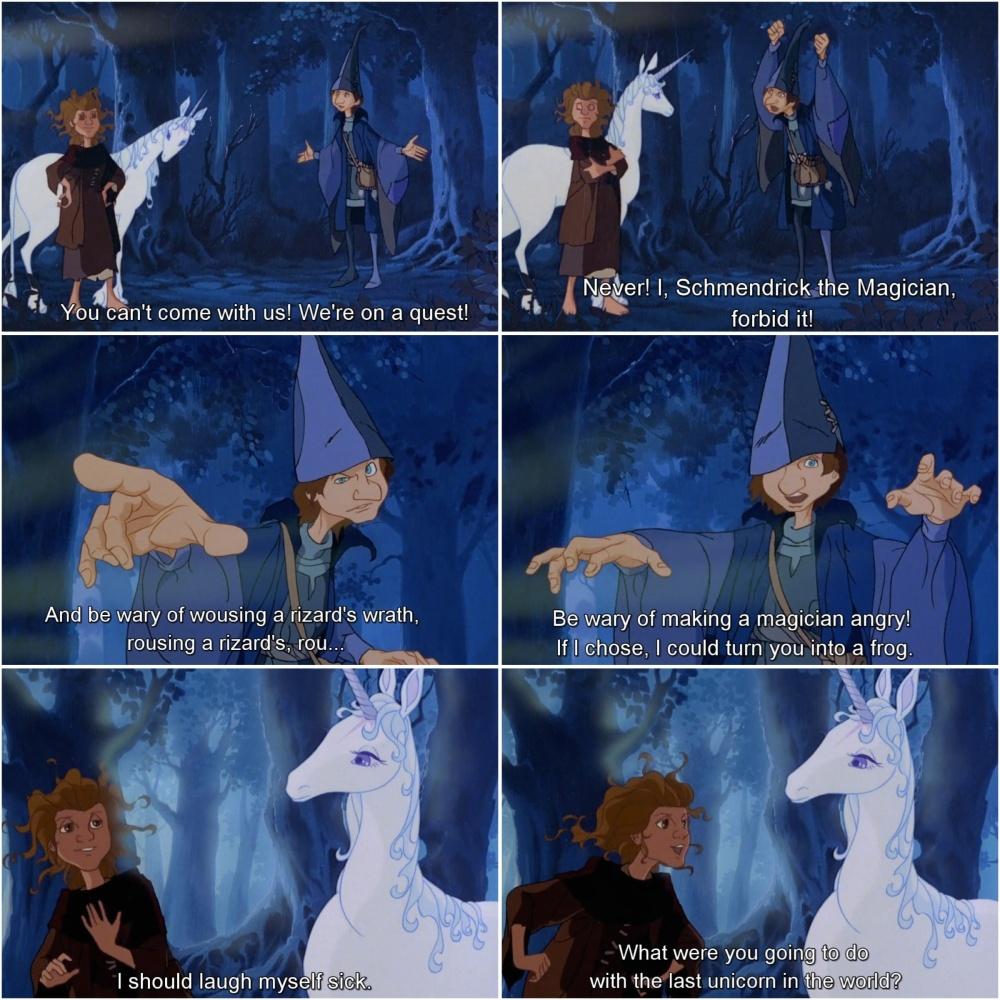 schmendrick molly grue the last unicorn